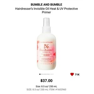 Bumble and bumble. Makeup - Bb. Hairdresser's Invisible Oil Primer